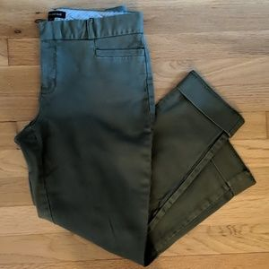 Banana Republic green cropped/ankle pants